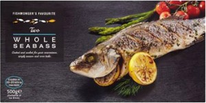 2 Whole Seabass 500g CO