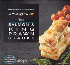 Salmon & King Prawn Stacks 390g CO